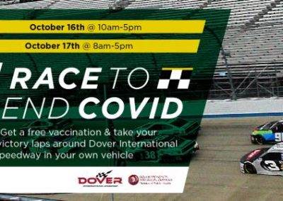 Join the 'Race to End COVID' Event at Dover International Speedway